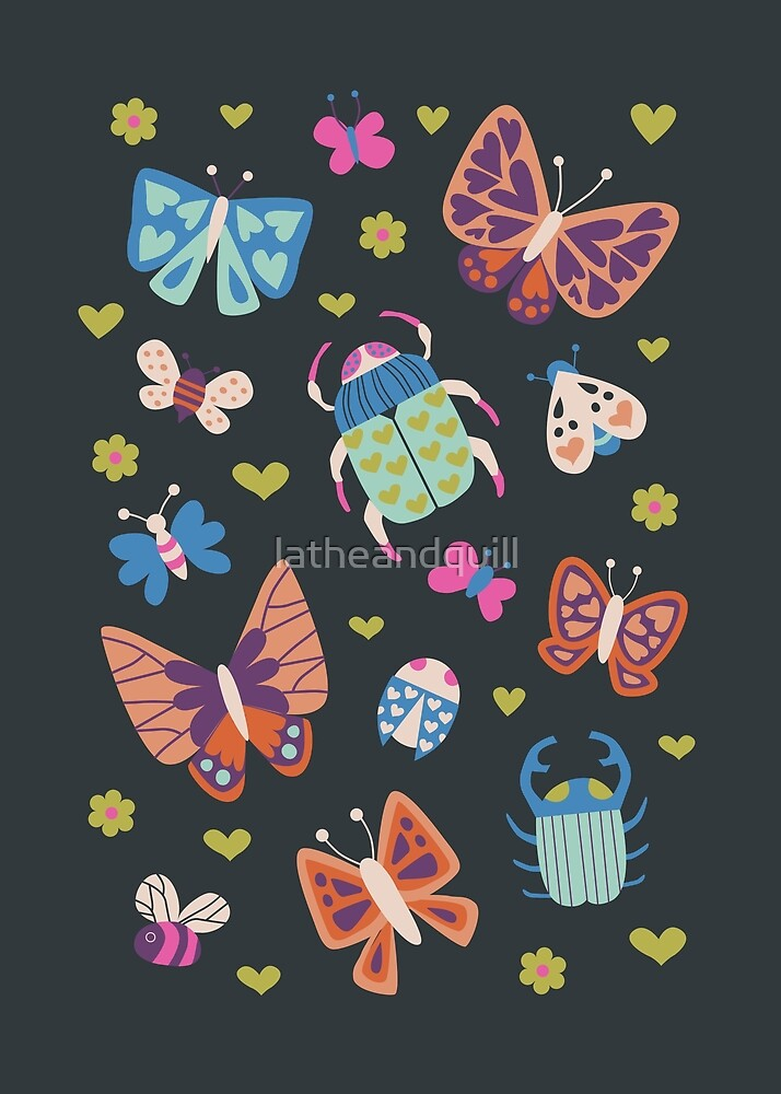 Love Bugs in Bright + Dark by latheandquill