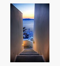 Steps To The Caldera Photographic Print