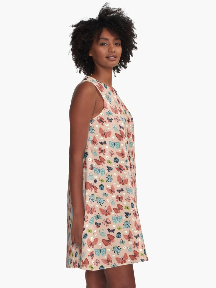 Alternate view of Love Bugs  A-Line Dress