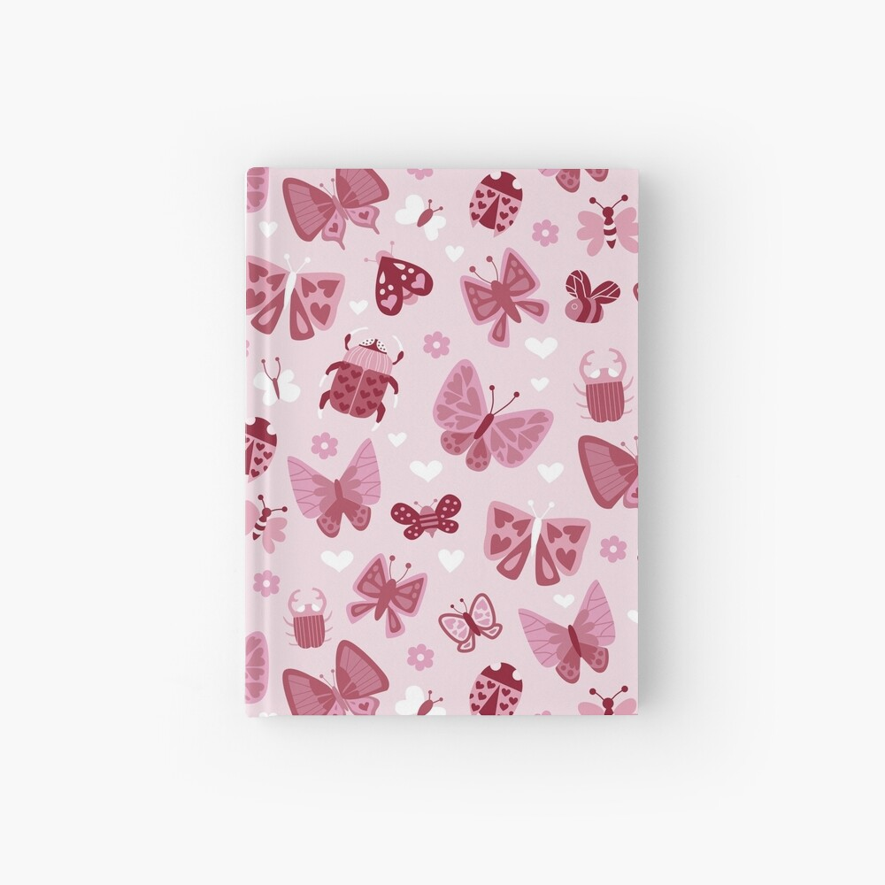 Love Bugs in Pink + Red Hardcover Journal