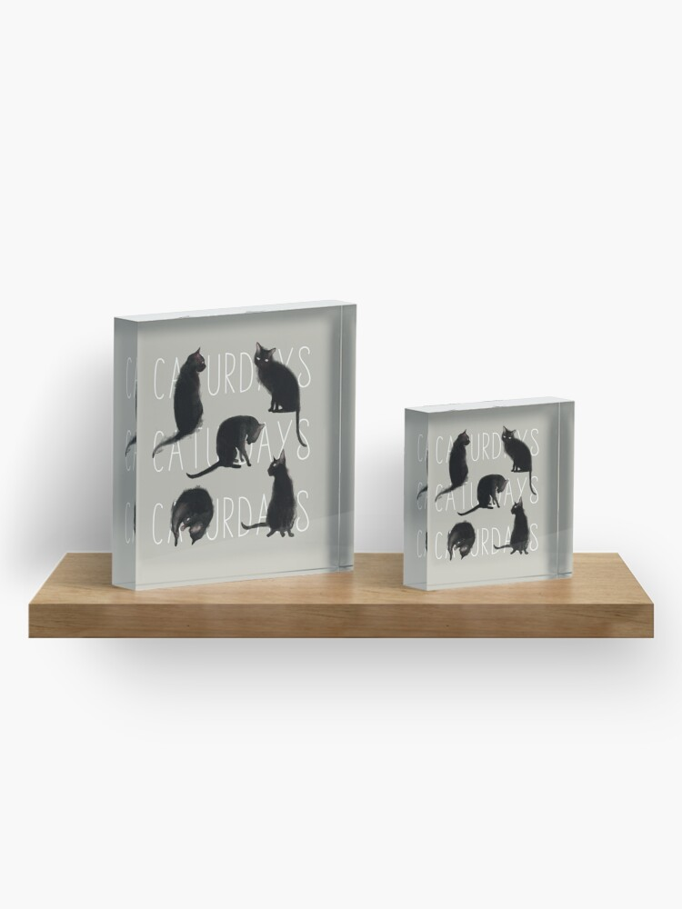 Alternate view of Caturdays - Black Cat Acrylic Block