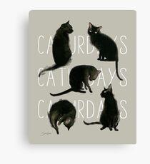 Caturdays - Black Cat Canvas Print