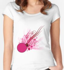 Abstract Digital Pink Bubbles Women's Fitted Scoop T-Shirt