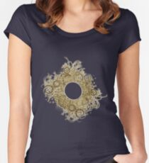 Abstract Digital Baroque Swirls Women's Fitted Scoop T-Shirt