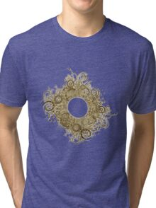 Abstract Digital Baroque Swirls Tri-blend T-Shirt
