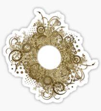 Abstract Digital Baroque Swirls Sticker