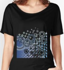 Abstract Digital Blue Bubbles Women's Relaxed Fit T-Shirt