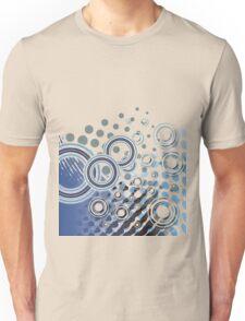 Abstract Digital Blue Bubbles Unisex T-Shirt