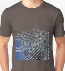 Abstract Digital Blue Bubbles Unisex T-Shirt