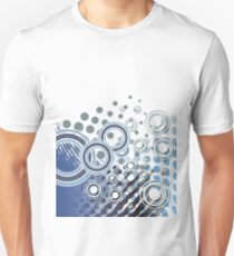 Abstract Digital Blue Bubbles T-Shirt