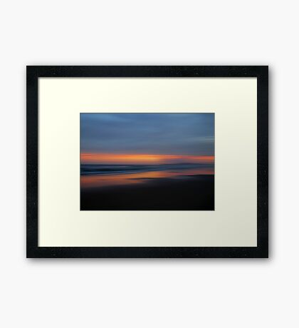 Grants Beach Sunset Framed Print