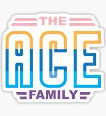 The Ace Family Retro Shirt Sticker