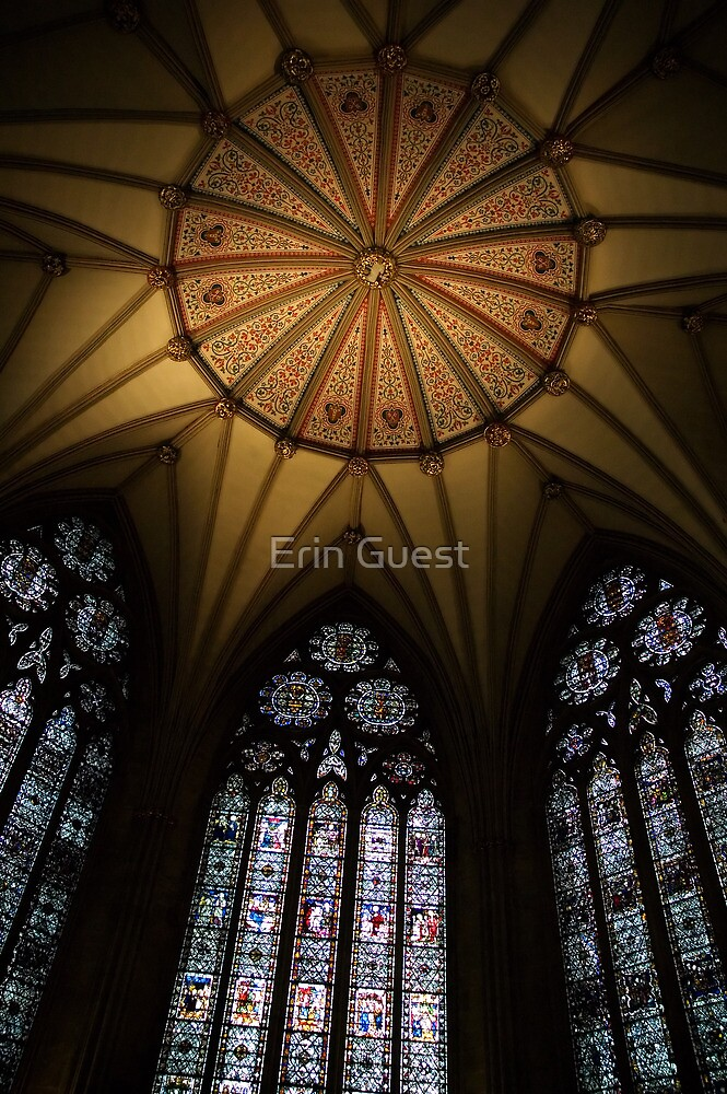 Chapter House Ceiling - York Minster, York by Erin Guest