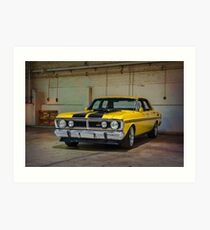 Yellow XY Ford Falcon GT Art Print