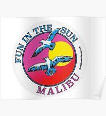BRANDY MELVILLE FUN IN DEN SUN MALIBU AUFKLEBER Poster