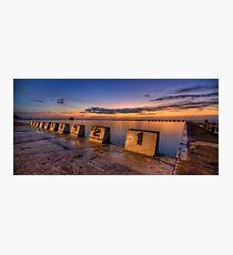 "Merewether Baths, Newcastle - ""Before Sunrise"" Photographic Print"