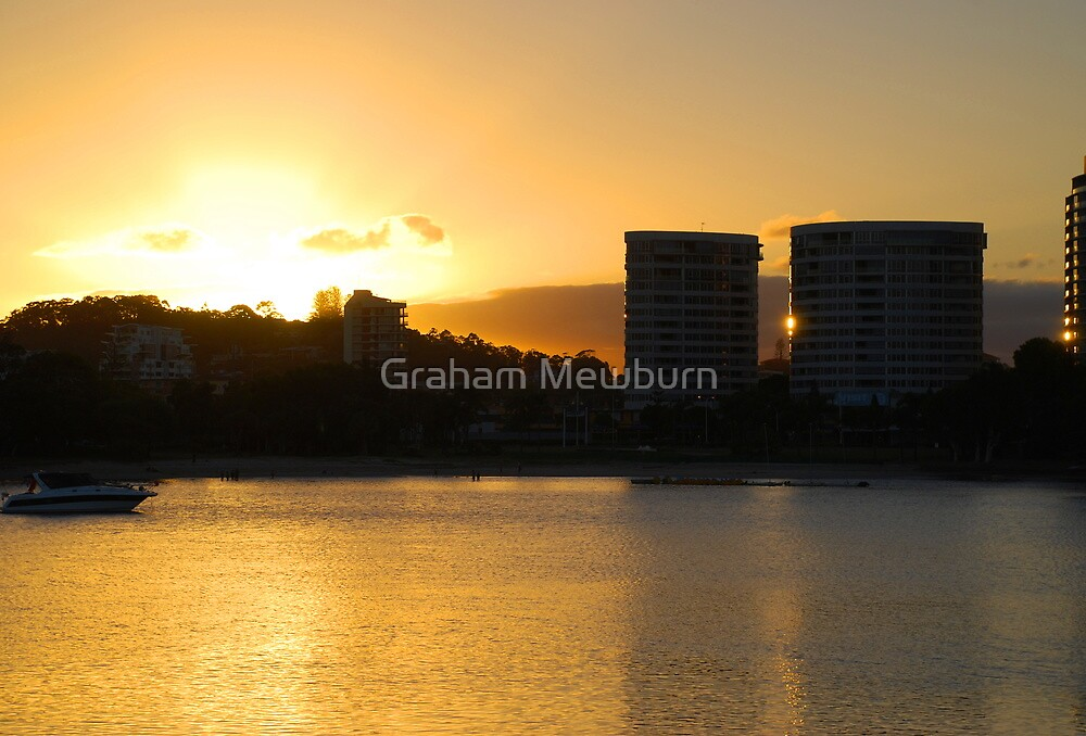 Tweed skyline across Jack Evans Harbour by Graham Mewburn