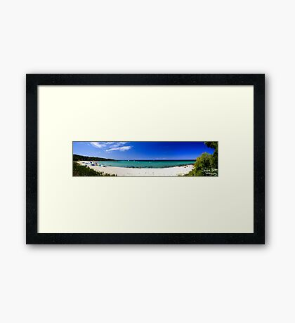 Meelup Beach Panorama Framed Print