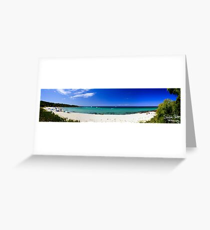 Meelup Beach Panorama Greeting Card