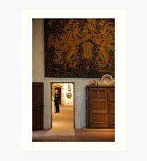 Framed Observer - The Cloisters, NYC Met Art Print
