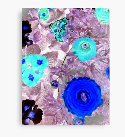 "Abstract Flowers featured in ""The World as we see it or missed it"" & ""A fascinating purple"" Canvas Print"