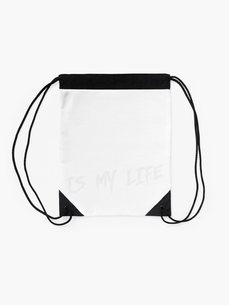 Alternate view of Cycling is my life Drawstring Bag
