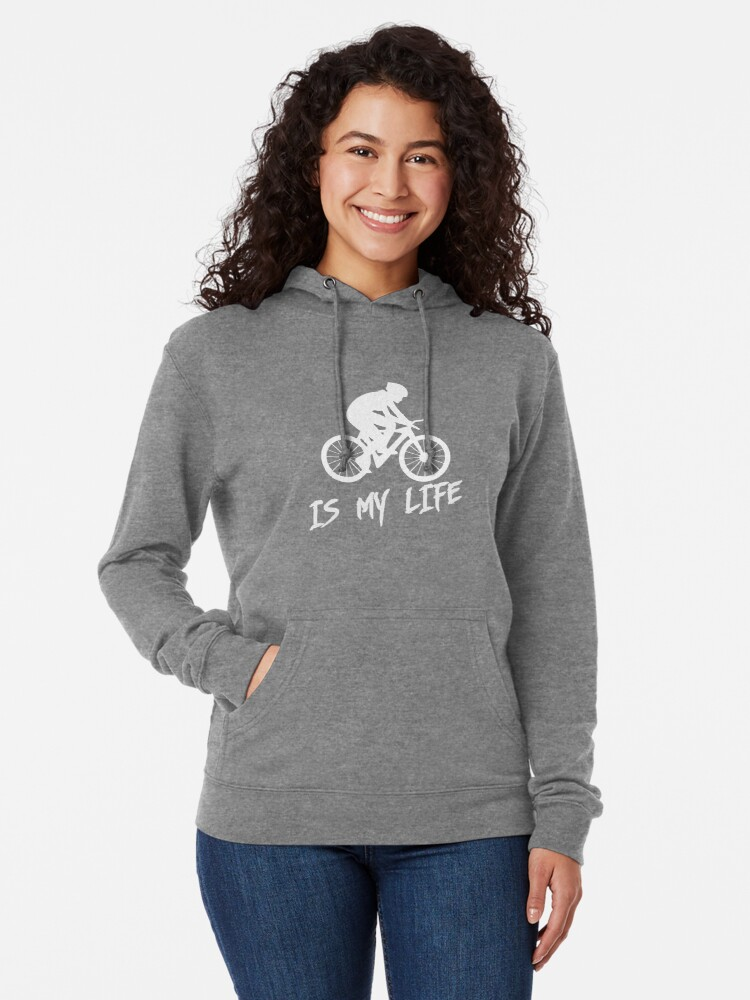 Alternate view of Cycling is my life Lightweight Hoodie
