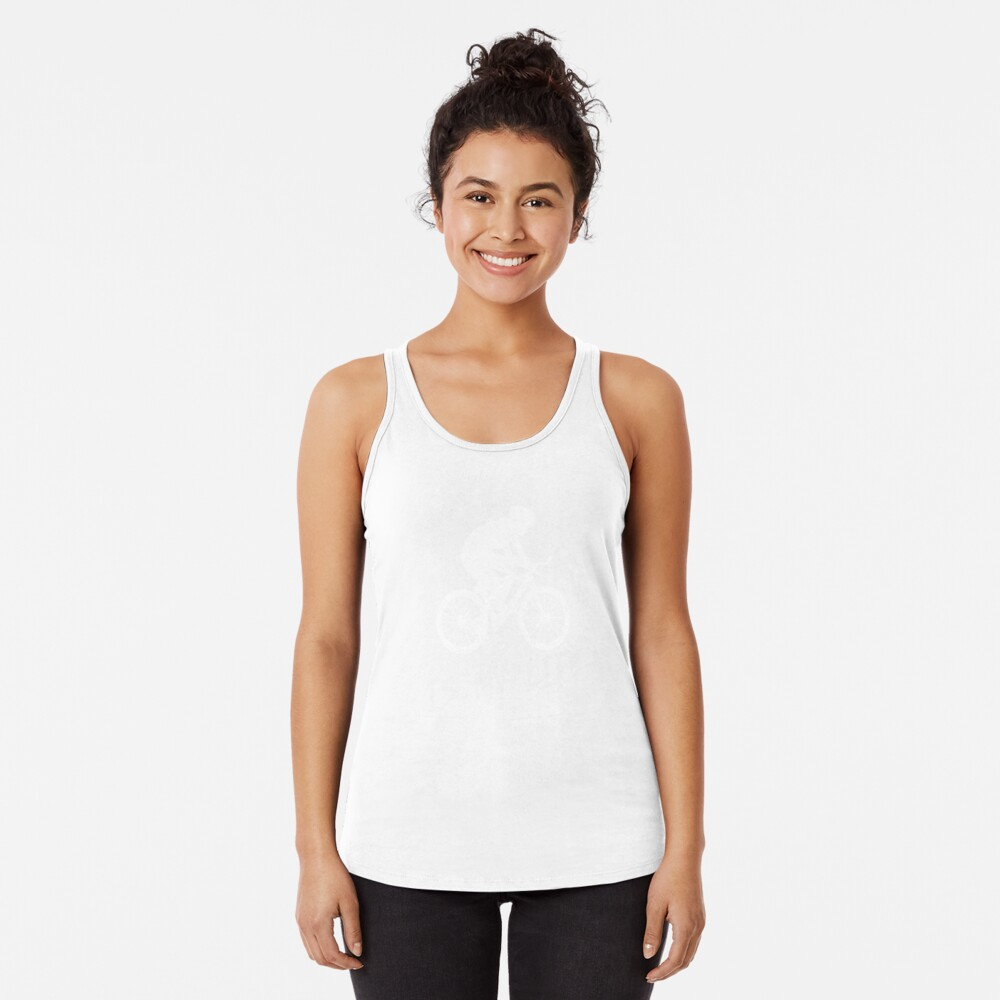 Cycling is my life Racerback Tank Top