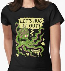 Lets Hug It Out Womens Fitted T-Shirt