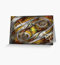 Steampunk - Spiral - Space time continuum Greeting Card