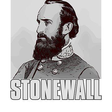 General Stonewall Jackson Portrait  by n--o--n