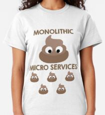 Monolith vs Microservices Funny Developer design Classic T-Shirt