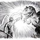 The Lost World, an Allosaurus comes close to camp. by SnakeArtist