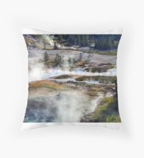 Yellowstone Paints Throw Pillow