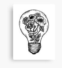 flower lightbulb Metal Print
