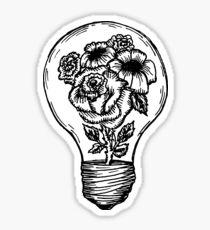 flower lightbulb Sticker