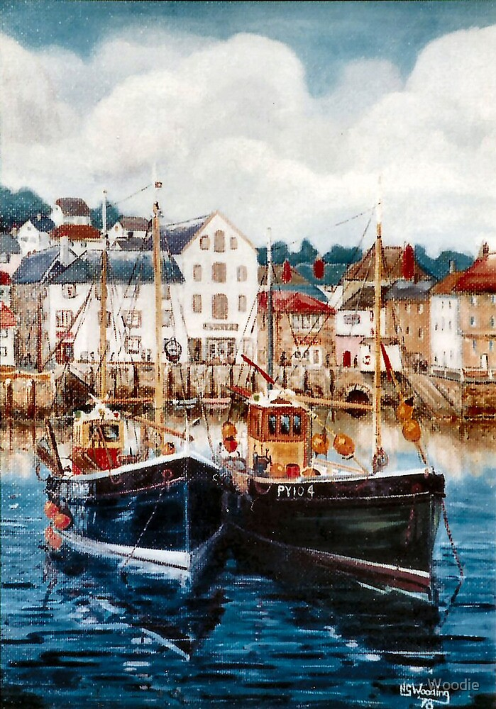 Old fishing boats, Brixham by Woodie