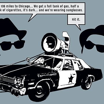"Bluesmobile, Jake & Elwood (""Hit it"" Quote) by thedrumstick"