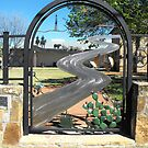 Gate of Historical Park in Palo Pinto, Texas by Susan Russell