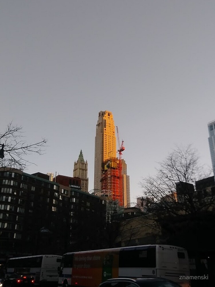 #NewYorkCity #NYC #NewYork #NY #Manhattan #city #architecture #street #travel #road #skyscraper #tower #outdoors #cityscape #sunset #sky #dusk #traffic #vertical #builtstructure #nopeople by znamenski