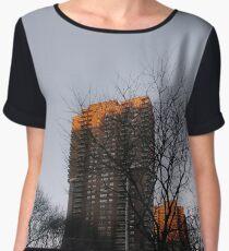 #NewYorkCity #NYC #NewYork #NY #Manhattan #skyscraper #tower #tree #architecture #outdoors #city #sky #environment #vertical #colorimage #nopeople #builtstructure #day #lightnaturalphenomenon #modern Chiffon Top