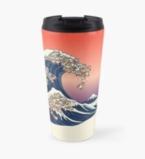 The Great Wave of Shiba Inu Travel Mug