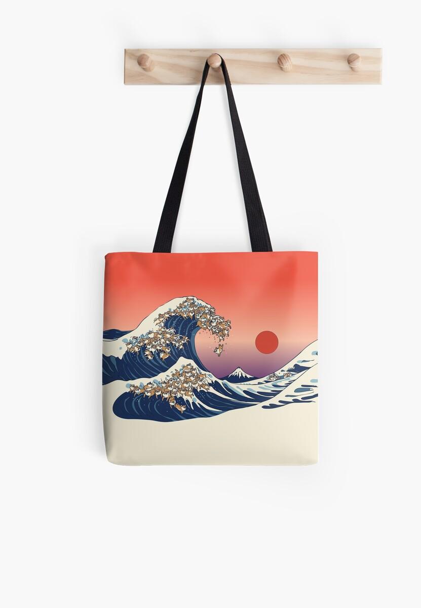 The Great Wave of Shiba Inu by Huebucket