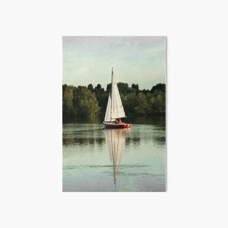 A beautiful sailing evening on the lake Art Board Print