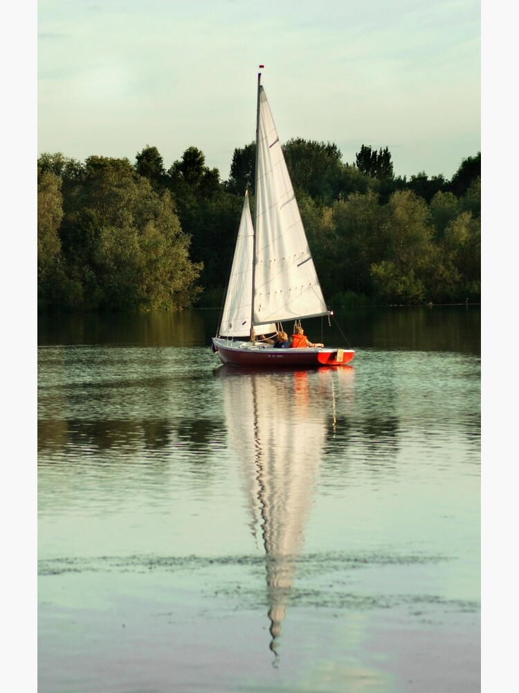 A beautiful sailing evening on the lake by steppeland