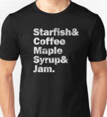 PRINCE Starfish & amp; amp; Kaffee (Weiß) Slim Fit T-Shirt