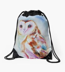 Barn Owl Drawstring Bag