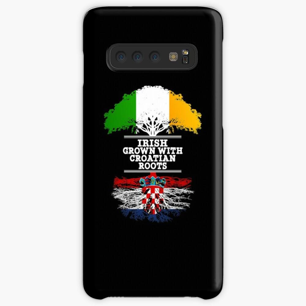 Irish Grown With Croatian Roots - Gift For Croatian With Roots From Croatia Hüllen & Klebefolien für Samsung Galaxy