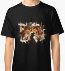 Time machine steampunk machinery watercolor painted Classic T-Shirt