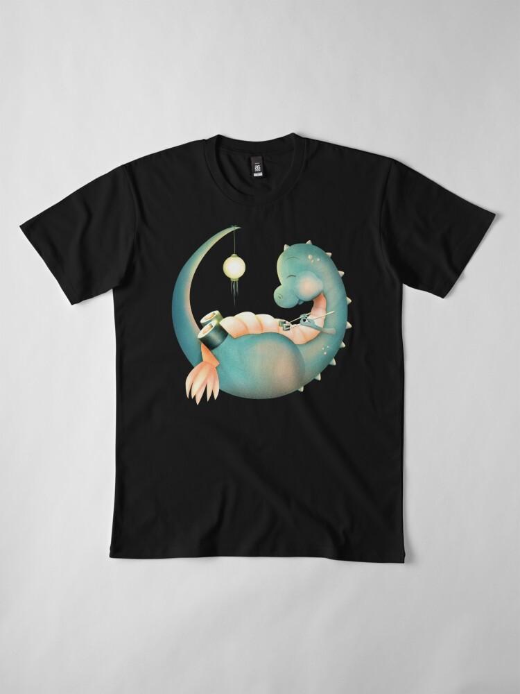 Alternative Ansicht von Sushi Dinosaurier Premium T-Shirt
